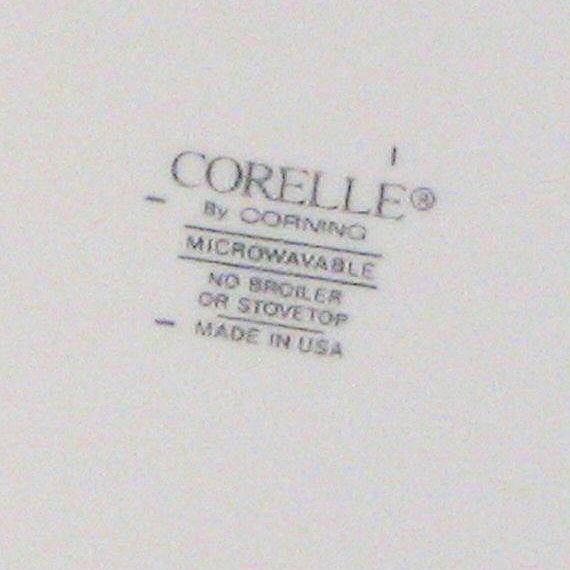 Corelle by Corning Backstamp
