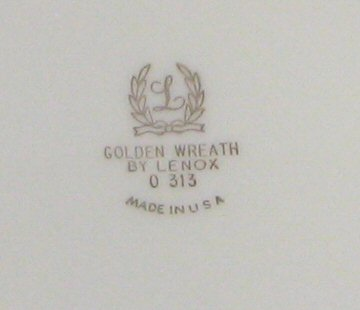 Lenox Golden Wreath Backstamp