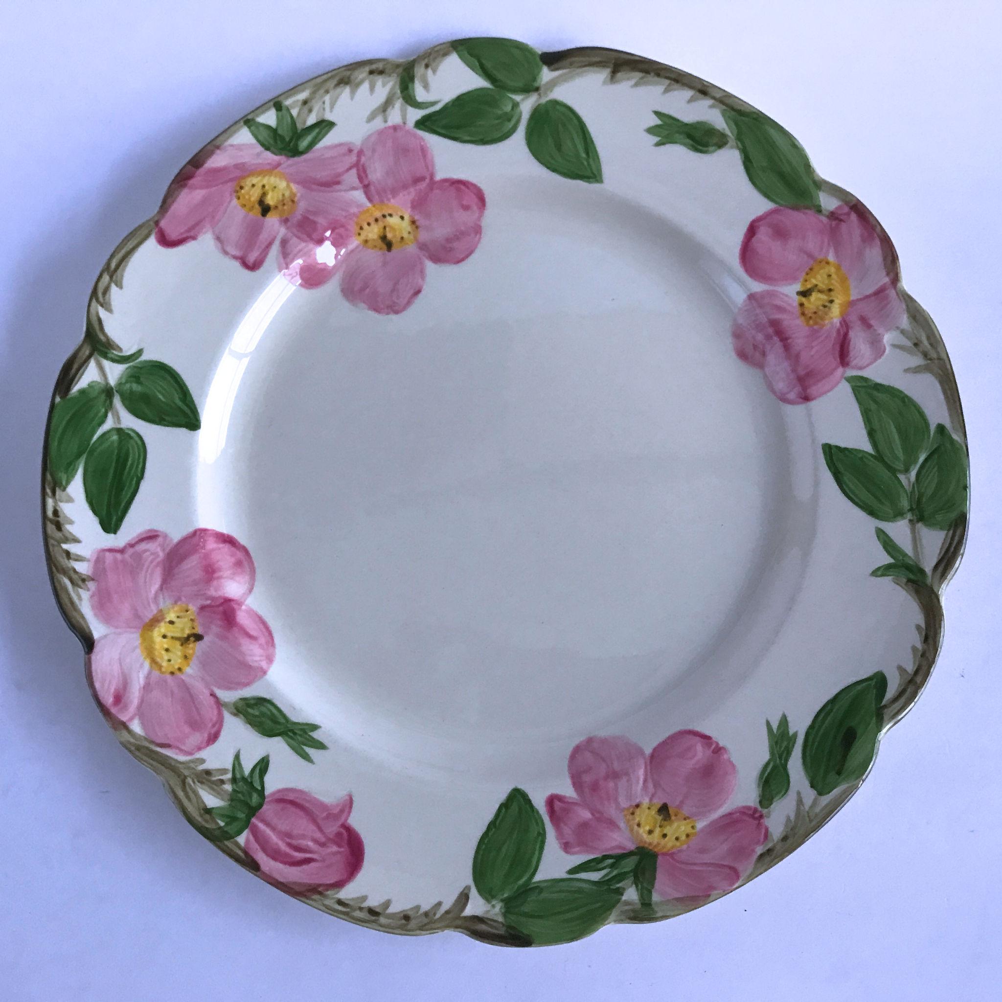 Franciscan Desert Rose dinner plate*has crazing*